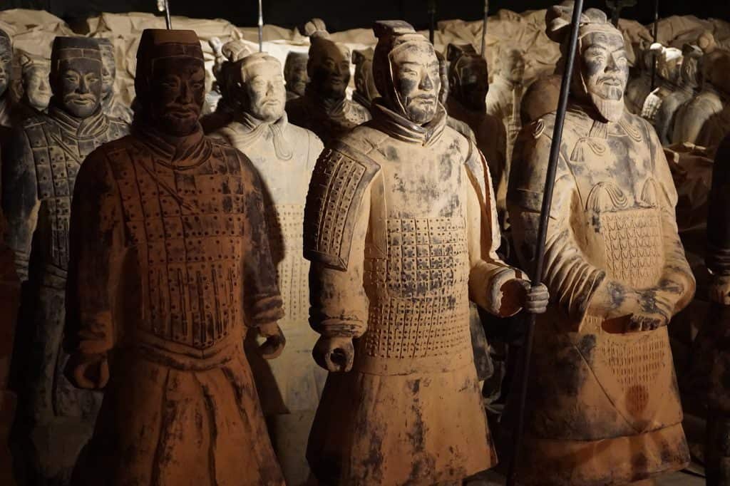 The Terracotta Army of Emperor Qin.