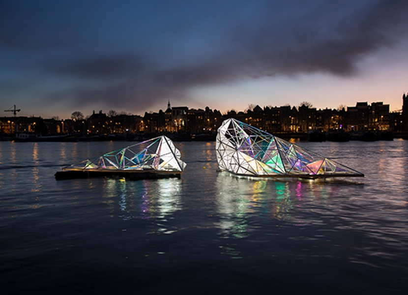 cruise at the amsterdam light festival 2019